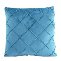 American hotel use blue color polyester velvet cushion cover for house