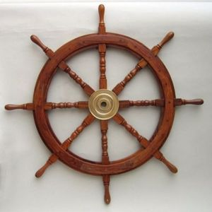 Nautical Wooden Ship Steering Wooden Antique Ship Wheel for Wall Decor