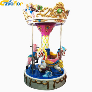 Indoor amusement park Merry Go Round Carousel 3 Seats Mini Carousel for sale