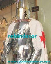 Knight <span class=keywords><strong>Middeleeuwse</strong></span> Ridder Harnas Templar Combat Full Body Armour Stand