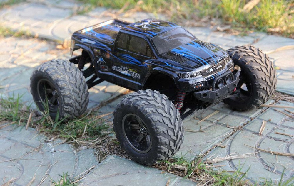 FMTStore 1/12 Scale Electric RC Car Offroad 2.4Ghz 2WD High Speed 33+MPH Remote Controlled Car Truck (Color: Assorted)