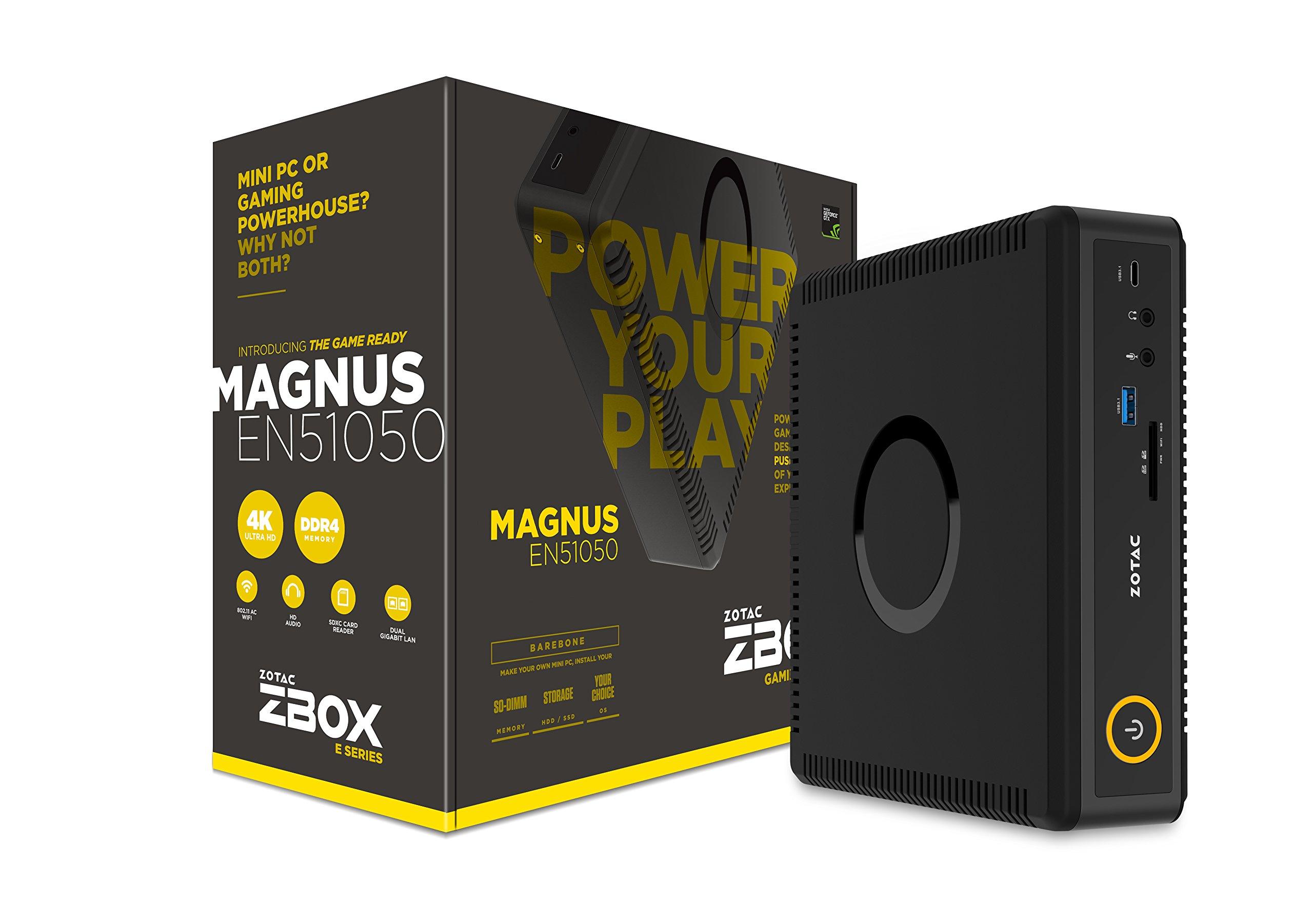 ZOTAC Magnus EN51050 Gaming Mini PC Intel Kaby Lake Core i5 NVIDIA GeForce GTX 1050 4K Display Barebone (ZBOX-EN51050-U)