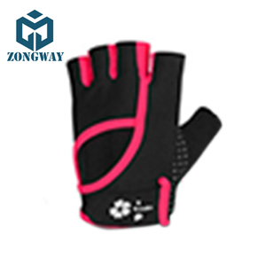 ZONGWAY Men Cycling Gloves Finger less Half Finger Bike Bicycle Sports Gel Padded Kolumbus Cycling Gloves Black Red STHFBD024