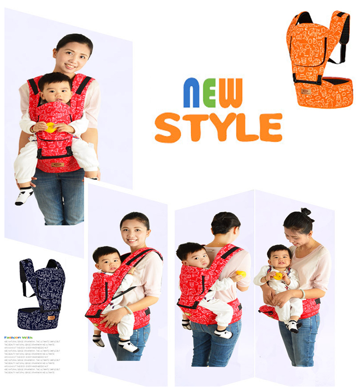Comfortable and Ergonomic, Multi-Position Carrying for Infants Babies Toddlers Organic Cotton Baby Carrier