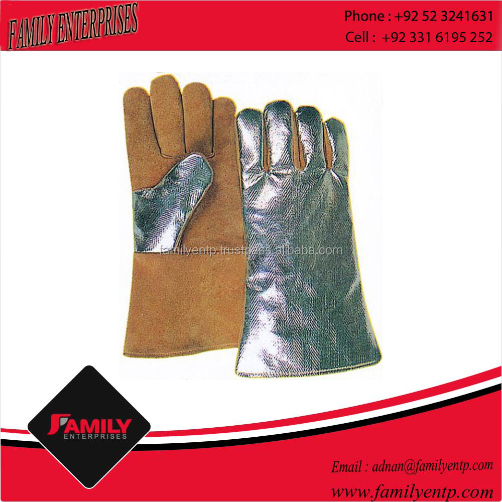 Heavy Work Mens Long Cowhide Leather Welding Gloves