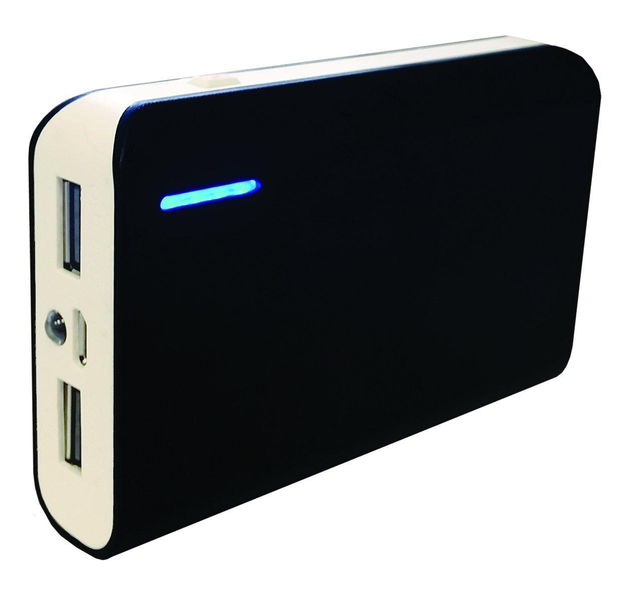 GetPower 6000mAh 2.1 Amp Portable Power Bank for Universal Smartphones - Retail Packaging - Black