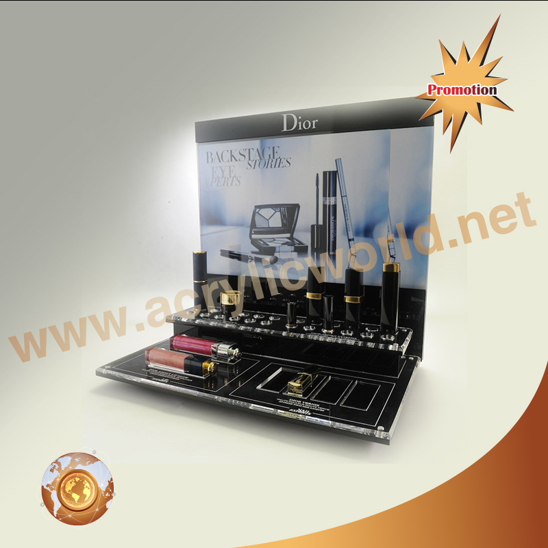 Luxury Customized Black Acrylic cosmetic display