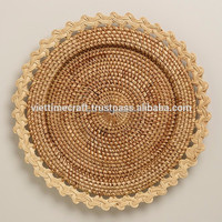 HIgh quality rattan charger plates/ Honey Rattan Charger Plates