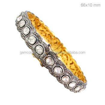 gross bangle sterling l h diamond silver bangles bracelet yellow gold