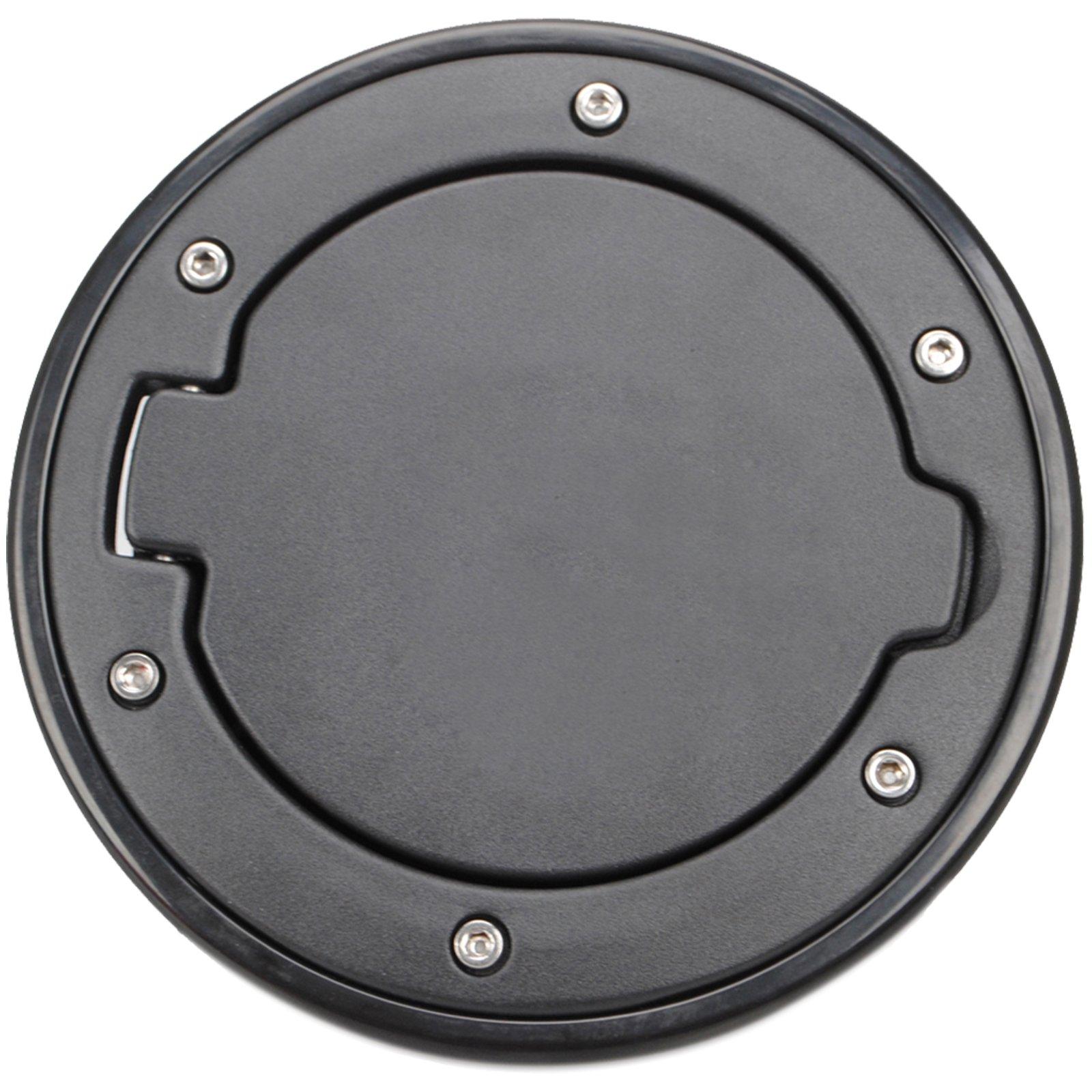 Ogrmar Fuel Filler Door Cover Gas Tank Cap for 2007-2015 Jeep Wrangler JK & Unlimited 2/4 Door (Black)