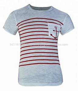 100% Slub Cotton Printed short Sleeve Man T-Shirt