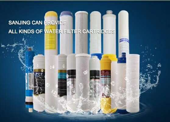 Quick Fitting UDF T33 Activated Carbon Inline Post Water Filter Cartridge for RO Machine