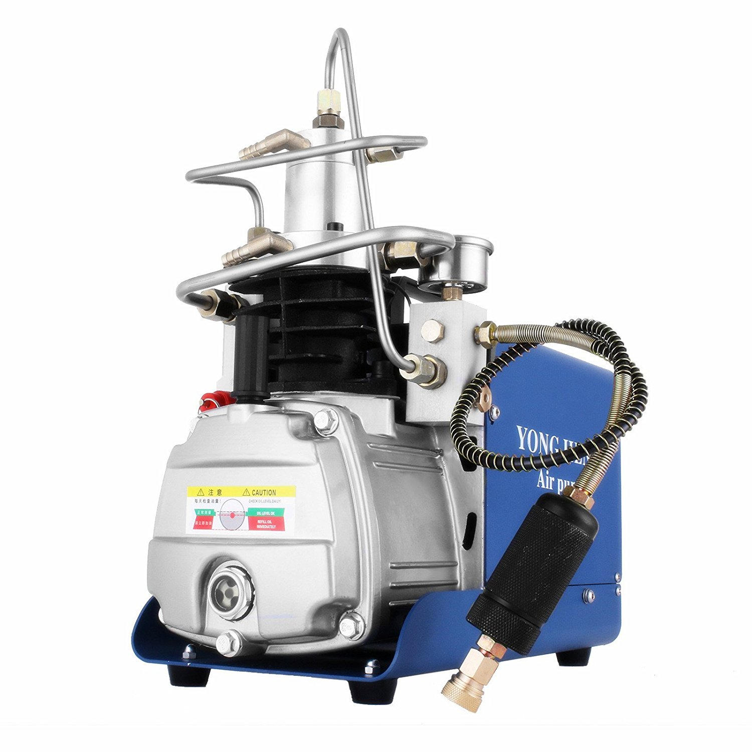 Popsport High-Pressure Air Pump 30MPa Electric Air Compressor Pump 110V PCP Compressor Pump 4500PSI Airgun Compressor for Fire Fighting and Diving