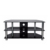 Family silk-screen tempered glass new design metal furniture tv stand