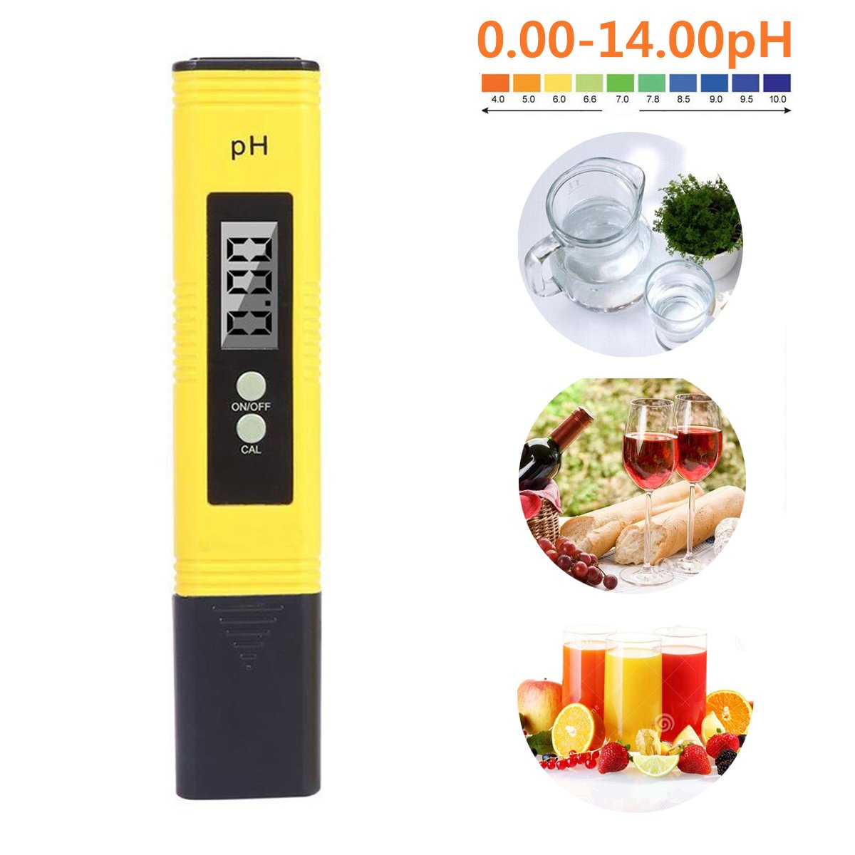 Portable Digital pH Meter Tester, LIUMY Pocket size Aquarium Pool Water Wine Urine LCD Pen Monitor 2 x 1.5V LR44 Battery ( Not included )