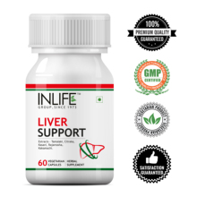 INLIFE Ayurvedic Herbal Liver Cleanse Detox Active Support Ayurvedic Medicine - 60 Vegetarin Capsules