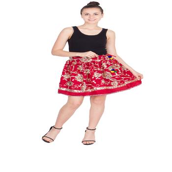 b0fcde309 Mujer Bordado A Mano Gitana Hippie Boho Corto Damas Corta Mini Falda ...