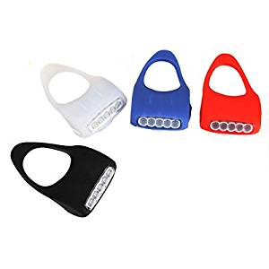 5 LED Bicycle Bike Caution Safety Rear Lights Silicone Blue White Black Red ( Black )