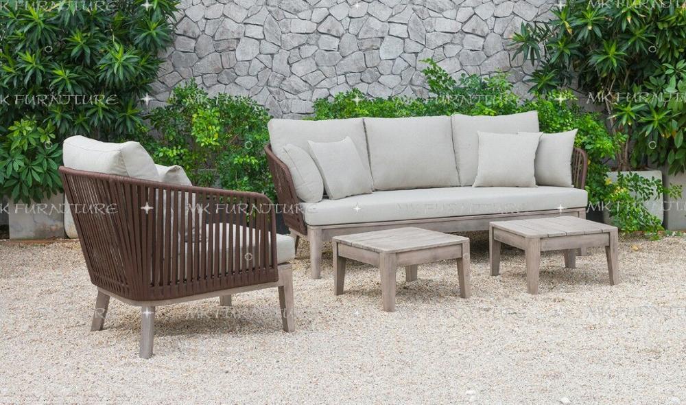 nieuwste decor rieten rotan houten sofa set meubels luxe woonkamer