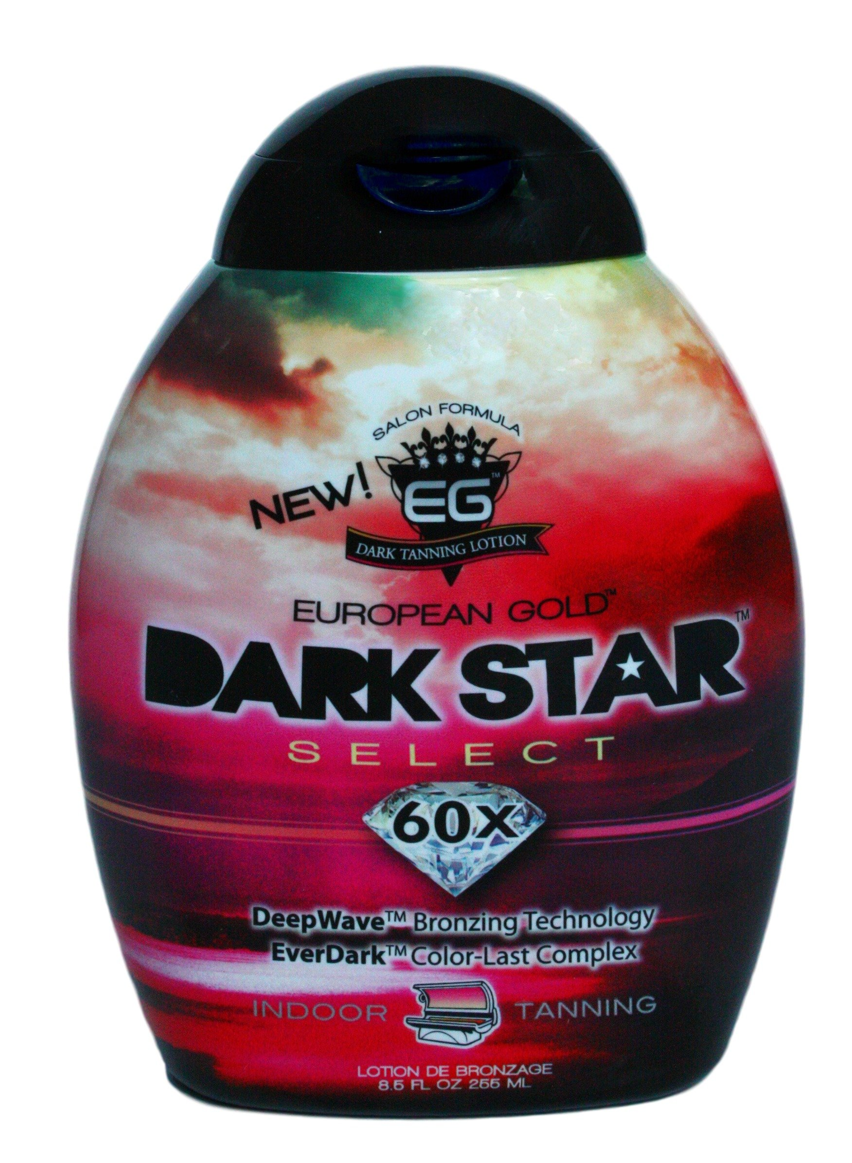 European Gold Dark Star Select, 60x Indoor Tanning Lotion, 8.5 fl oz