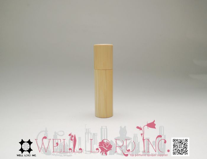Most popular perfume bamboo case 8ml empty roll on oil