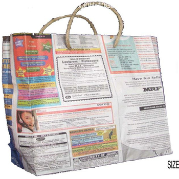 Eco Friendly Bag Recycle Ping Newspaper Environmental Handled Bags Recycled Product On Alibaba