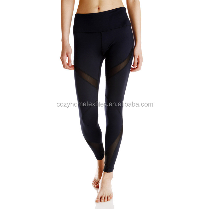 Mesh Yoga Pants Custom Full Length Barre Stirrup Leggings Active Gym Workout Running Tights