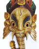 Wooden God Mask, Wood Craft - Buy Mask of Hindu Lord Ganesh Hand Crafted Used for Wall Hanging Made In Nepal