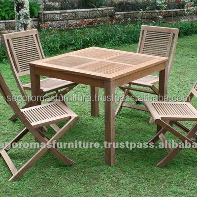 Indonesian Teak Wooden Outdoor Strips Folding Furniture Buy Folding Furniture Wood Furniture Outdoor Furniture Product On Alibaba Com