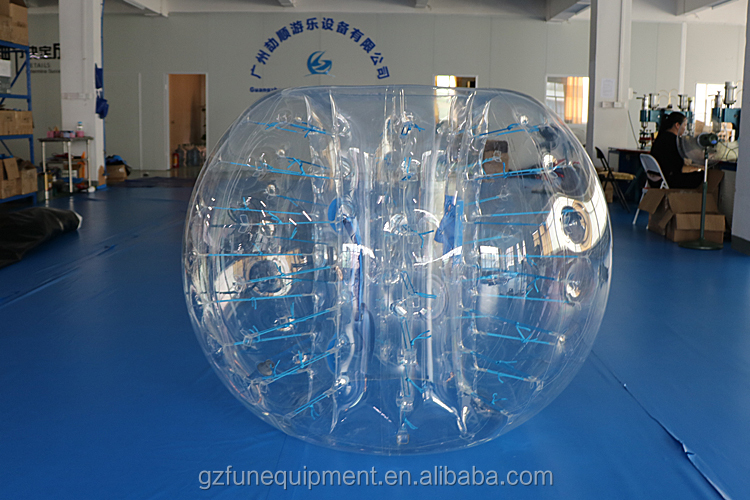 Factory price 1m diameter 0.7mm TPU inflatable bumper balls bubble footballs for sale