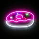 donuts custom design flexible led neon art sign