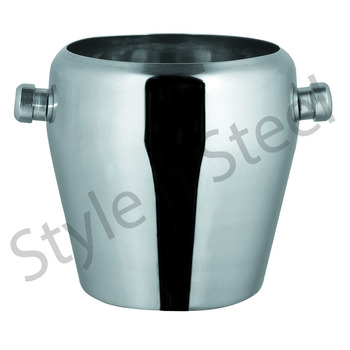 STAINLESS STEEL APPLE ICE BUCKET