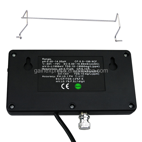 6 in 1 มืออาชีพหลายพารามิเตอร์คุณภาพน้ำตรวจสอบทดสอบ pH / ORP / EC / CF / TDS PPM / อุณหภูมิ C Ombo การทดสอบเมตร
