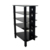 Cheap black High-tempered silk decoration tv stand wall RA029