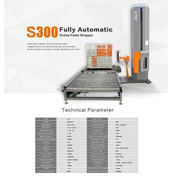 a6b9585faeb Inteligente avispa en línea totalmente automático de palets máquina de  embalaje con entrada y salida transportador