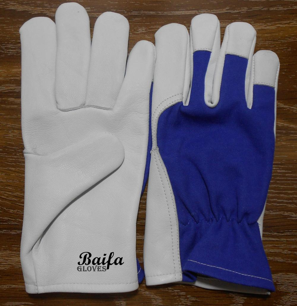 Goatskin Cheap Price Leather Safety Working Gloves