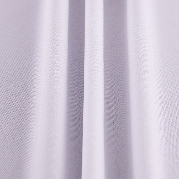 White Color Recycle Breathable Elastic Fabrics Eco Friendly