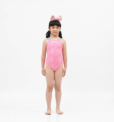 ae555c9c8 طفل الفتيات ملابس السباحة قطعة واحدة بدلة السباحة للأطفال لطيف وردي ...