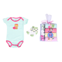 Best Seller Short- Sleeves Baby Jumper + Socks Gift Pack for Girls