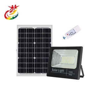 Outdoor lighting 6500K 25W 40w 60w 100w led flood solar spot light garden