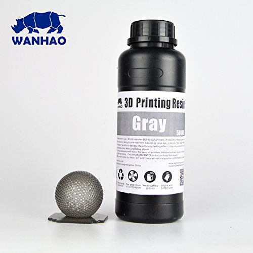 Wanhao UV Cure 3D Printer Resin - Gray 500ml