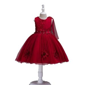 Factory high quality bangladesh children kid girls clothes chiffon frock designs princess birthday dress for party