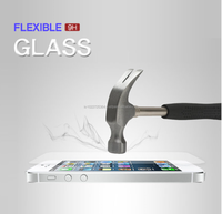 Real 9H Flexible tempered glass screen protector applicable for LCD/LED mobile phone, PDA, ATM, tablet pc.