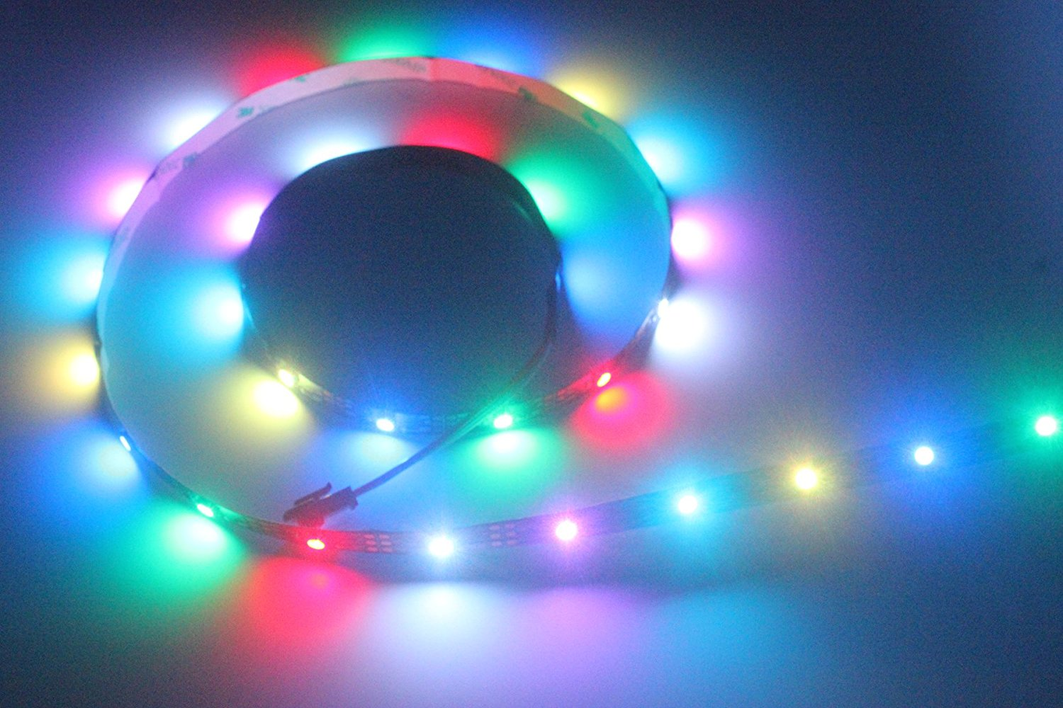 INVOLT WS2812B LED Strip Addressable Programmable 30LED/M 3.2FT 1M, Cuttable Consistant Color for Display Screen, DC 5V Non Waterproof WS2811-Chip Built-in