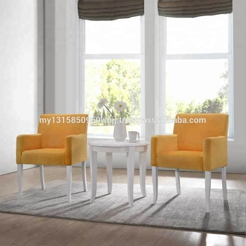Velvet Accent Chair Living Room Sofa 3 Pieces Accent Armchair With