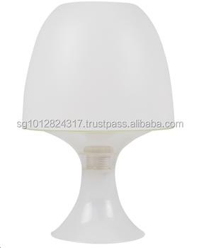 Mushroom Table Lamp E14 Max 15w White Plastic Desk Decorative
