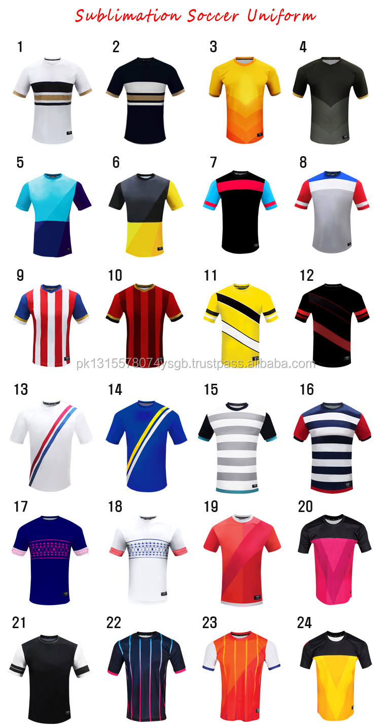 Custom printed national club football shirts cheap sublimation soccer jersey