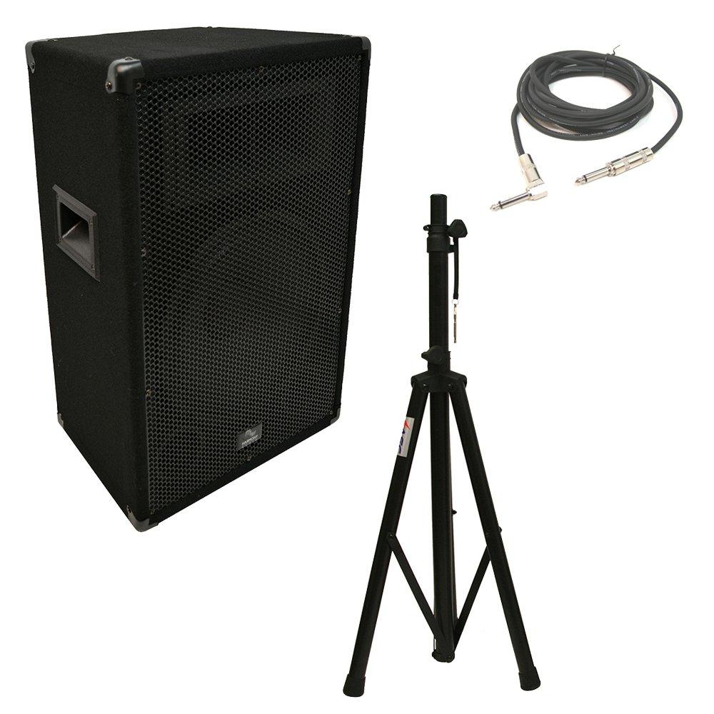 "Harmony Audio HA-V12P Pro DJ 12"" Passive 450W PA Speaker 1/4"" Cable & Stand New"