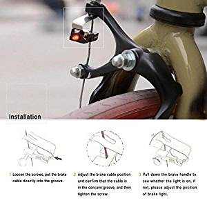 Bicycle Brake Light - Bicycle Brake Light Switch - 1Pc Mini Travel CR1025 Battery Wheel Spokes Bike brake Light mountain bicycle Led light Limited Real Cycling Accessories