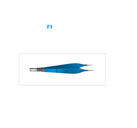 Straight European Irrigation Bipolar Forceps Electrosurgical Instruments